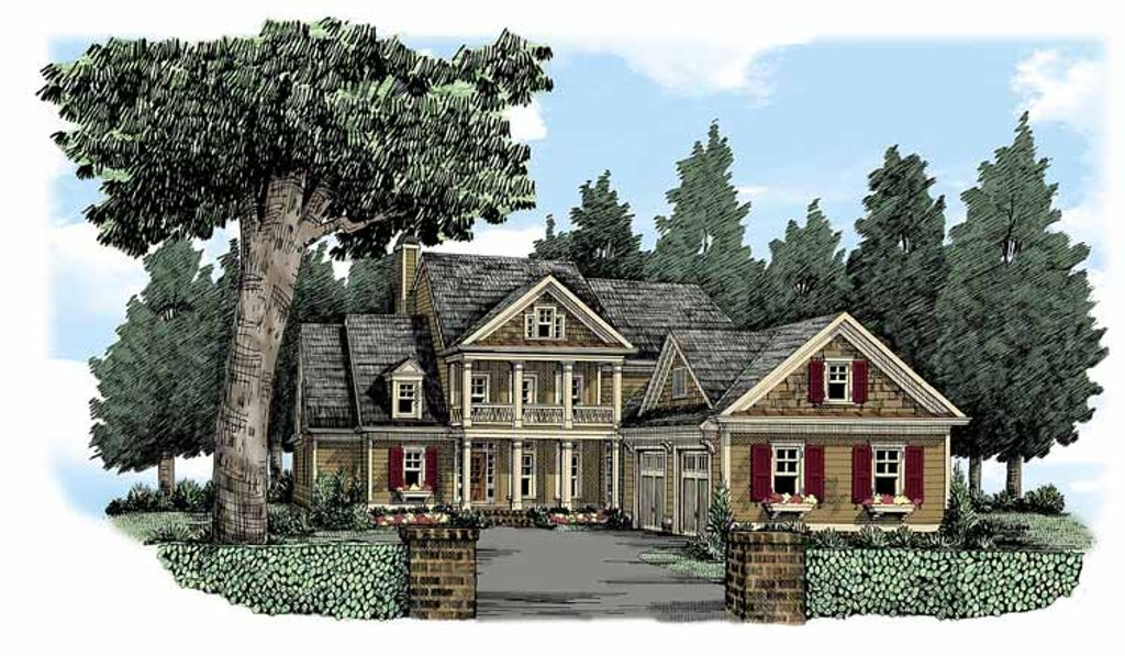 Country Exterior Front Elevation Plan 927 370