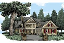 House Plan Design - Country Exterior - Front Elevation Plan #927-370