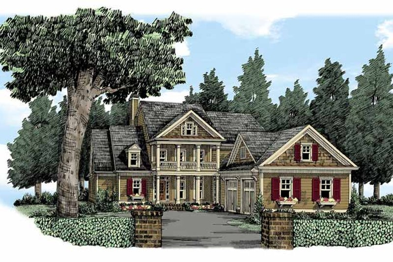 Country Exterior - Front Elevation Plan #927-370 - Houseplans.com