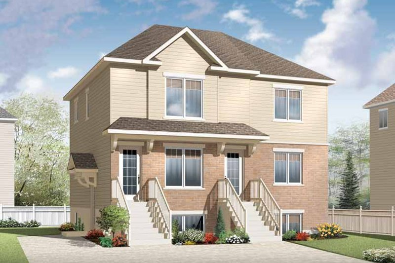 Traditional Exterior - Front Elevation Plan #23-2560 - Houseplans.com