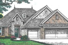 European Exterior - Front Elevation Plan #310-1259