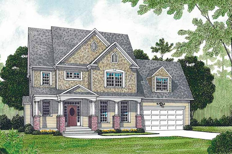 Craftsman Exterior - Front Elevation Plan #453-473
