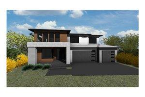Dream House Plan - Modern Exterior - Front Elevation Plan #1066-134