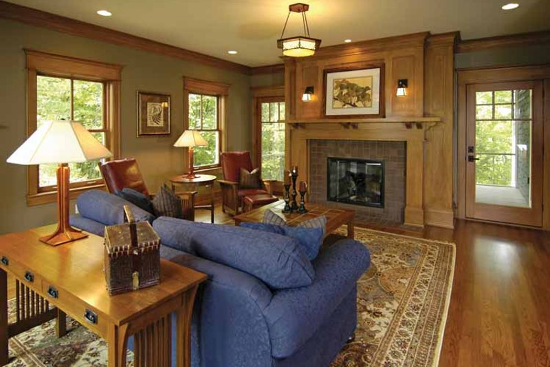 Craftsman Interior - Family Room Plan #928-30 - Houseplans.com