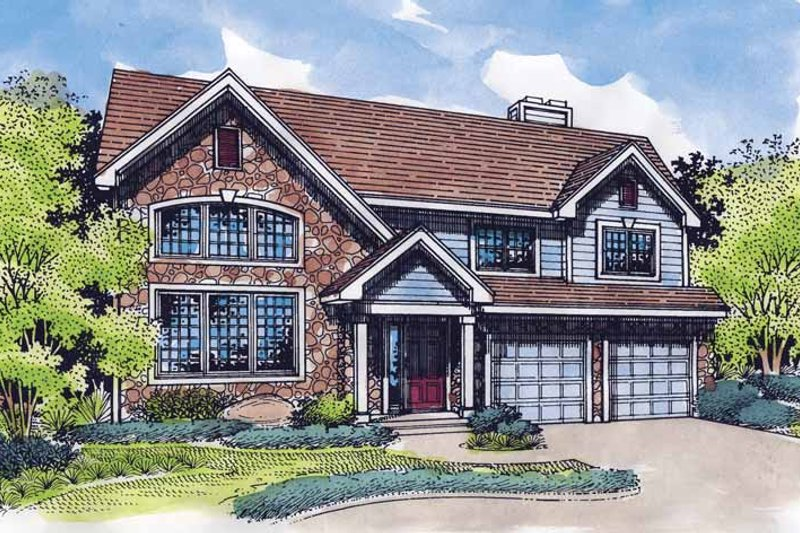 Traditional Exterior - Front Elevation Plan #320-545 - Houseplans.com