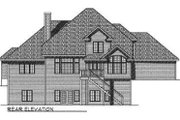 Traditional Style House Plan - 4 Beds 3.5 Baths 3580 Sq/Ft Plan #70-530 Exterior - Rear Elevation