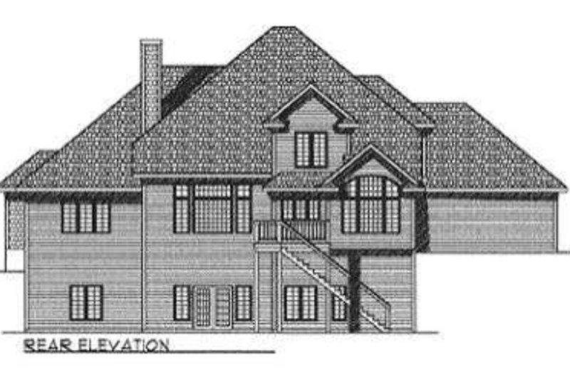 Traditional Exterior - Rear Elevation Plan #70-530 - Houseplans.com