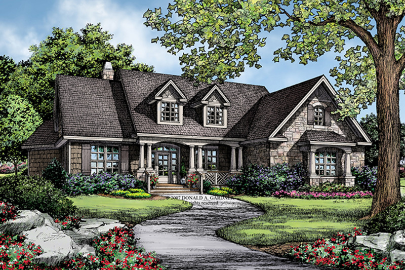 Traditional Exterior - Front Elevation Plan #929-911 - Houseplans.com