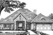 European Style House Plan - 4 Beds 2.5 Baths 2075 Sq/Ft Plan #310-593 Exterior - Front Elevation