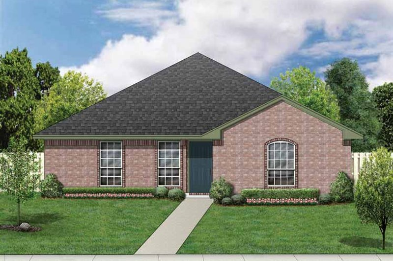 Ranch Exterior - Front Elevation Plan #84-661