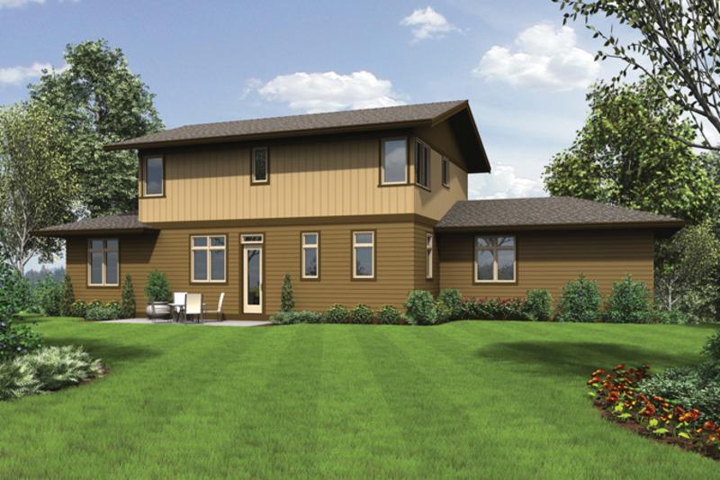 Craftsman Exterior - Rear Elevation Plan #48-913 - Houseplans.com