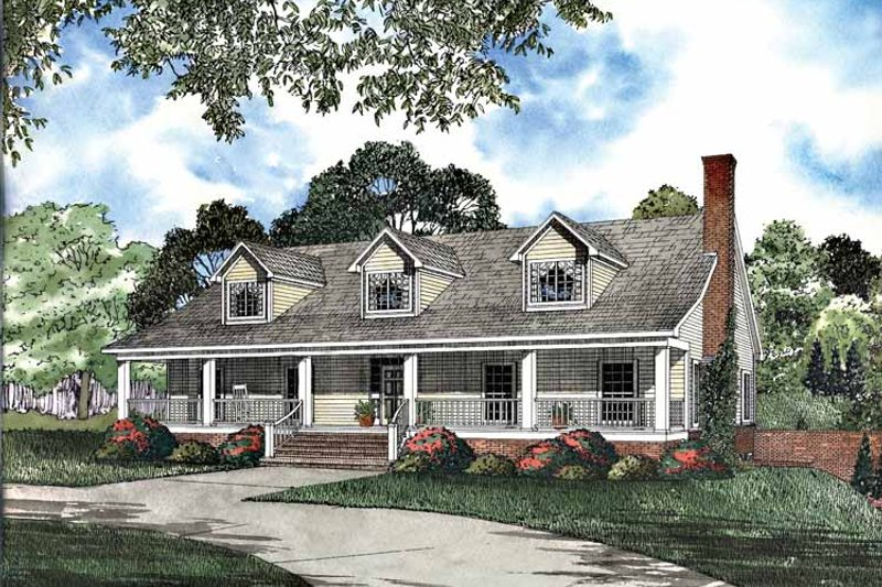 Dream House Plan - Country Exterior - Front Elevation Plan #17-3068
