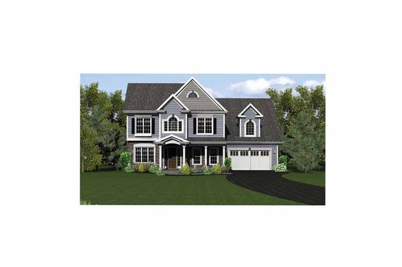 Classical Exterior - Front Elevation Plan #1010-13 - Houseplans.com