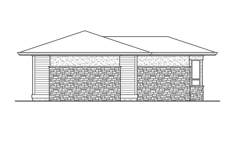 Prairie Exterior - Rear Elevation Plan #132-562 - Houseplans.com