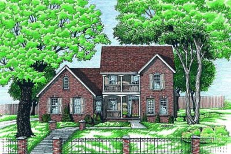 Colonial Exterior - Front Elevation Plan #20-547