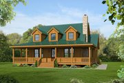 Country Style House Plan - 3 Beds 3.5 Baths 1990 Sq/Ft Plan #932-14 Exterior - Front Elevation