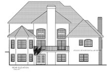 European Exterior - Rear Elevation Plan #56-204
