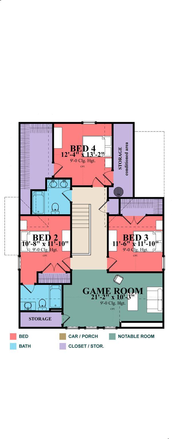 Farmhouse Style House Plan - 4 Beds 3 Baths 2639 Sq/Ft Plan #63-373 Floor Plan - Other Floor Plan