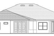 European Style House Plan - 4 Beds 3 Baths 3068 Sq/Ft Plan #1058-129 Exterior - Rear Elevation