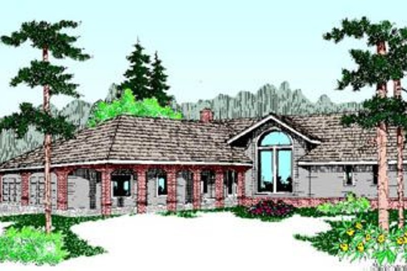 Traditional Exterior - Front Elevation Plan #60-202 - Houseplans.com