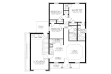 Ranch Floor Plan - Main Floor Plan Plan #1061-28