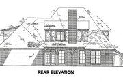 European Style House Plan - 4 Beds 4.5 Baths 3248 Sq/Ft Plan #310-643 Exterior - Rear Elevation