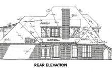 European Exterior - Rear Elevation Plan #310-643
