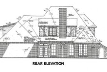 European Exterior - Rear Elevation Plan #310-643