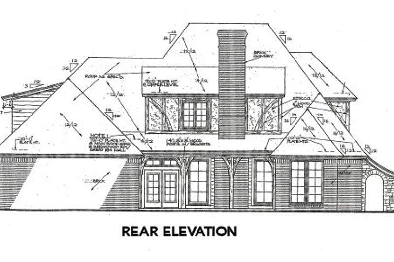 European Exterior - Rear Elevation Plan #310-643 - Houseplans.com