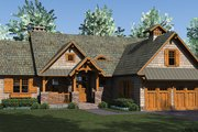 Craftsman Style House Plan - 3 Beds 3.5 Baths 2184 Sq/Ft Plan #453-615 Exterior - Front Elevation