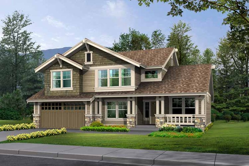 Craftsman Exterior - Front Elevation Plan #132-359