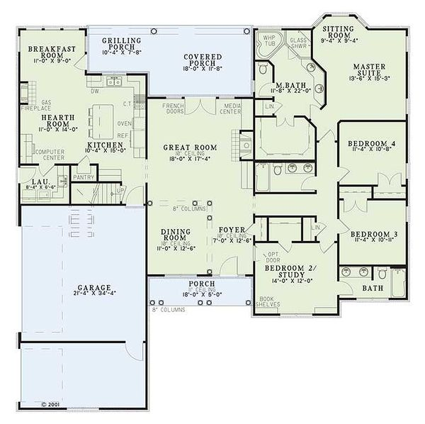 Dream House Plan - Traditional style house plan