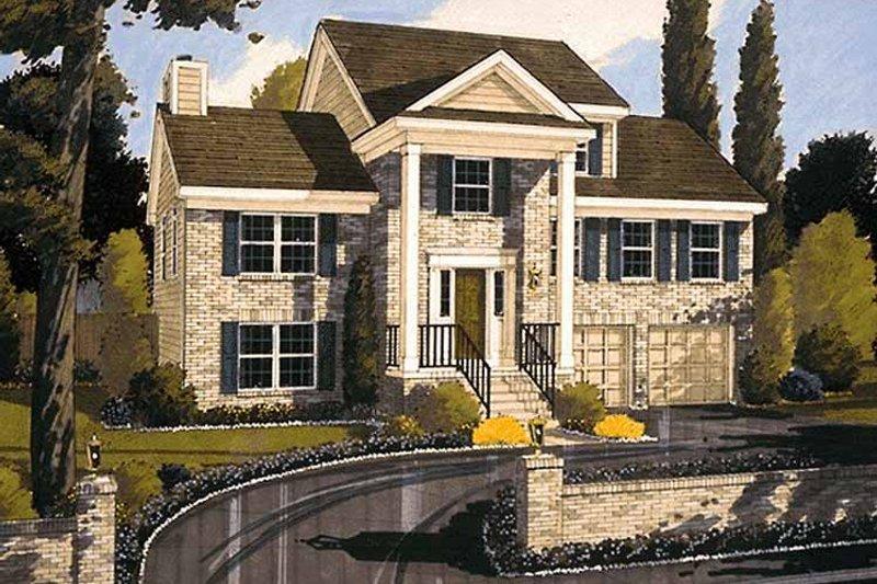 Classical Exterior - Front Elevation Plan #46-587 - Houseplans.com