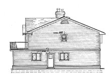 House Blueprint - Craftsman Exterior - Other Elevation Plan #47-694