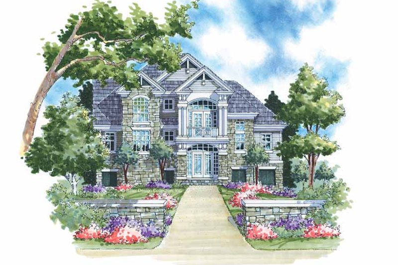 Traditional Style House Plan - 3 Beds 2 Baths 1978 Sq/Ft Plan #930-117 Exterior - Front Elevation