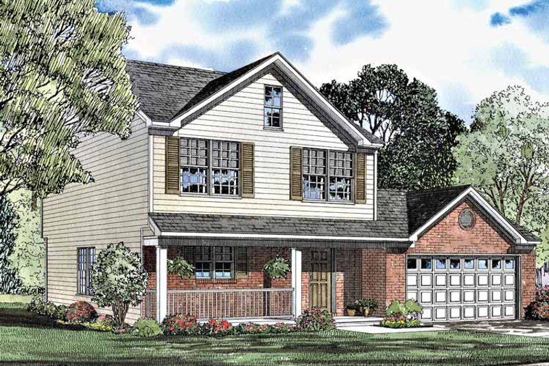 Country Exterior - Front Elevation Plan #17-3013 - Houseplans.com