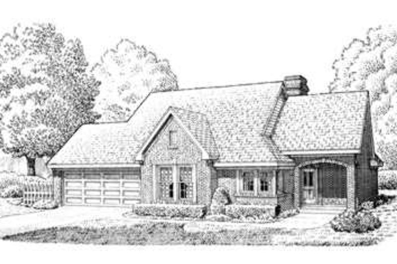 European Exterior - Front Elevation Plan #410-177