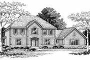 Modern Style House Plan - 3 Beds 3.5 Baths 3023 Sq/Ft Plan #70-475 Exterior - Front Elevation