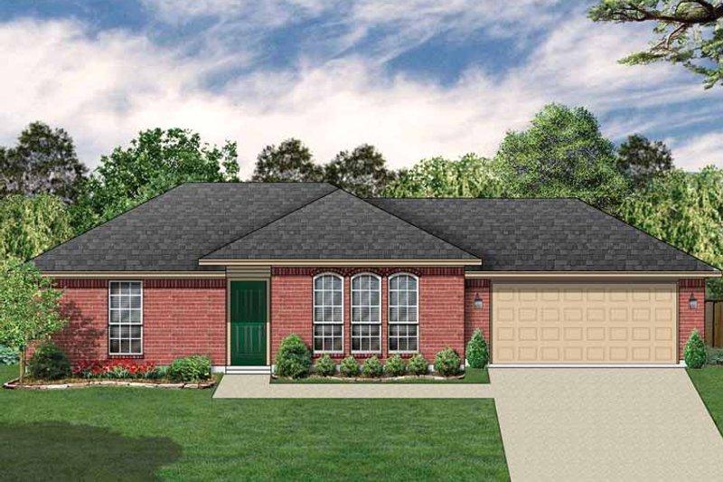 Ranch Exterior - Front Elevation Plan #84-656 - Houseplans.com