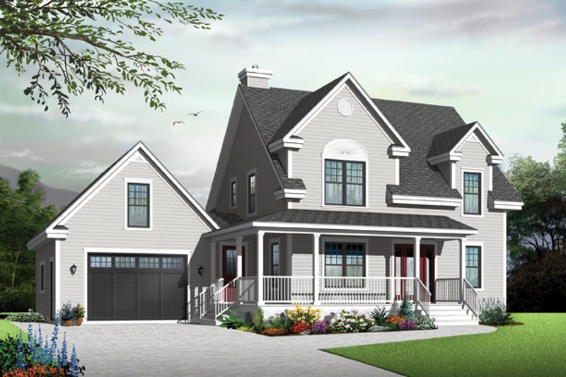 Country Exterior - Front Elevation Plan #23-2561