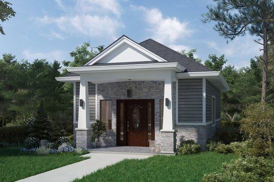 Cottage Exterior - Front Elevation Plan #1077-7