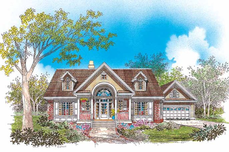 Country Exterior - Front Elevation Plan #929-622