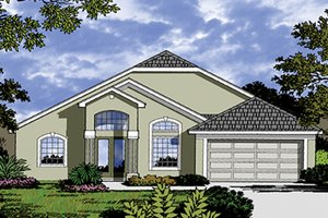 Mediterranean Exterior - Front Elevation Plan #417-822
