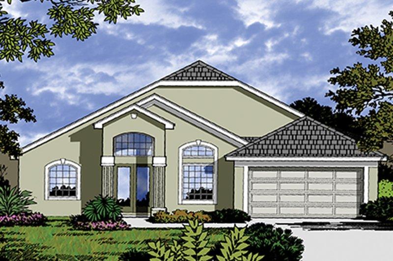 House Plan Design - Mediterranean Exterior - Front Elevation Plan #417-822