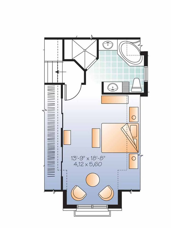 European Floor Plan - Upper Floor Plan #23-2541