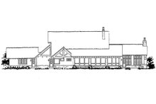 Home Plan - European Exterior - Rear Elevation Plan #942-38