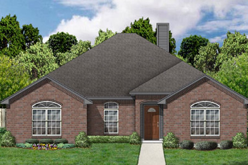 Traditional Exterior - Front Elevation Plan #84-351 - Houseplans.com