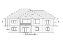 Craftsman Exterior - Rear Elevation Plan #20-2367