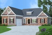 Traditional Style House Plan - 3 Beds 2.5 Baths 2107 Sq/Ft Plan #419-164 Exterior - Front Elevation