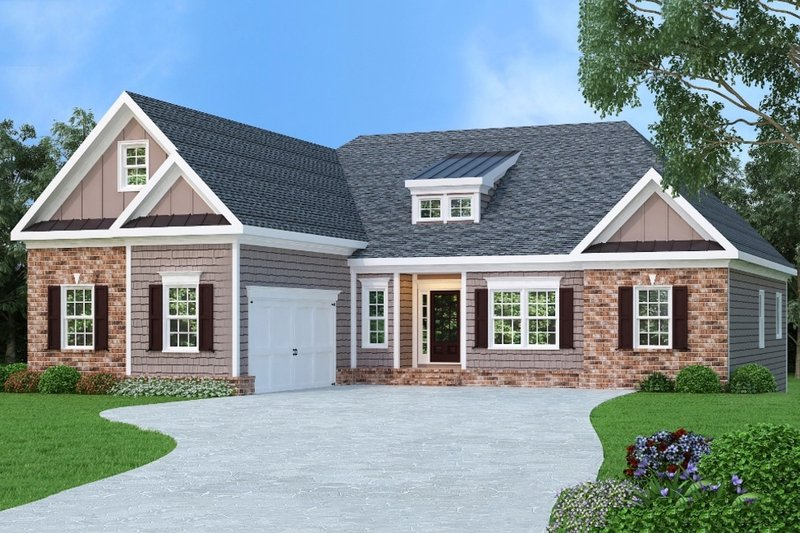 Traditional Exterior - Front Elevation Plan #419-164 - Houseplans.com